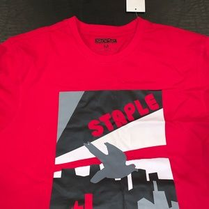 Staple Pigeon Red shirt tee M